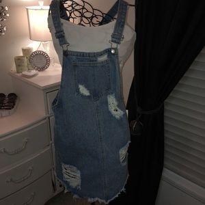 Denim Overall Skirt 💙 NWT